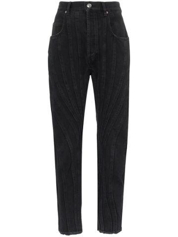 Mugler Seam Detail High-waist Jeans - Black