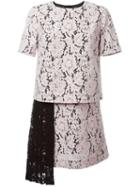 Msgm Asymmetric Lace Dress