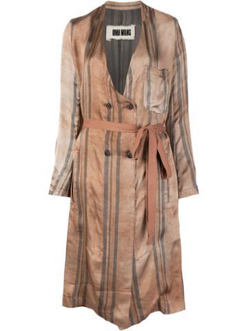 Uma Wang Striped Robe Coat