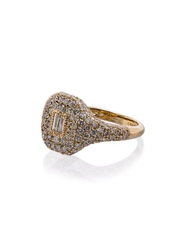 Shay 18k Yellow Gold Buckle Diamond Ring - Metallic