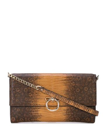 Rebecca Minkoff Jean Crocodile Effect Clutch - Brown
