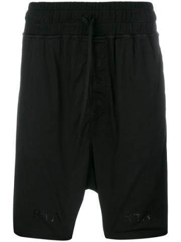 Rta Logo Detail Track Shorts - Black