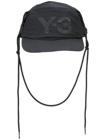 Y-3 Strings Cap, Adult Unisex, Black, Polyester