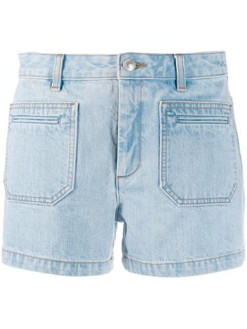 A.p.c. Short Denim Shorts - Blue