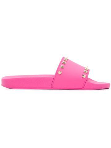 Valentino Valentino Garavani Rockstud Slides - Pink