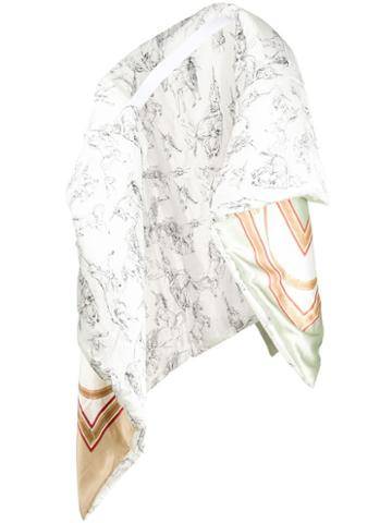 Burberry Quilted Oversized Scarf - White