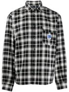 Rassvet Logo Patch Check Plaid Shirt - Black