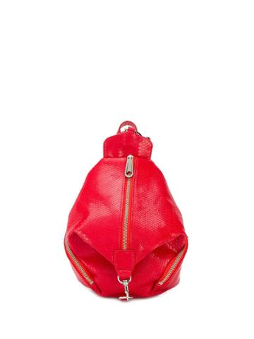 Rebecca Minkoff Julian Snakeskin Backpack - Red