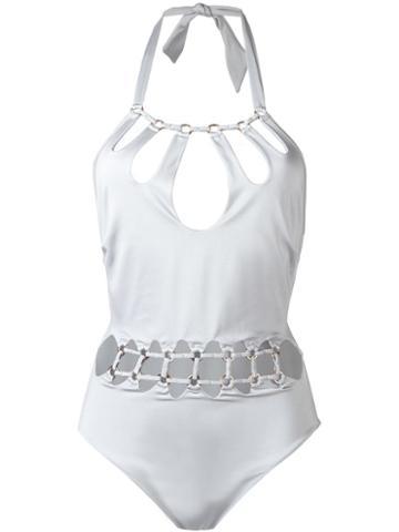 Norma La Favourite Swimsuit, Women's, Size: Small, Grey, Polyamide/spandex/elastane/metal
