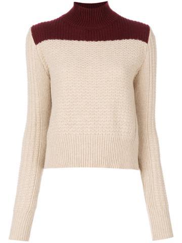 Marni - Bi-colour Roll Neck Sweater - Women - Alpaca/wool/polyamide - 44, Nude/neutrals, Alpaca/wool/polyamide