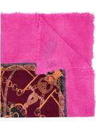 Avant Toi Chain Print Scarf - Pink