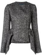Capucci Peplum Tweed Jacket - Black
