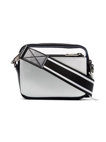 Givenchy Blue And White Reverse Logo Leather Messenger Bag