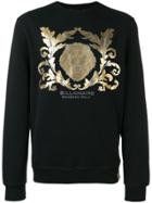 Billionaire Metallic Print Sweatshirt - Black
