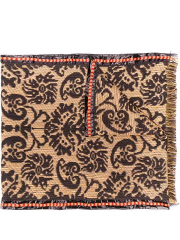 Etro Baroque Knitted Scarf - Brown