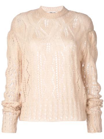 Mcq Alexander Mcqueen - Knitted Jumper - Women - Kid Mohair/polyimide/wool - M, Nude/neutrals, Kid Mohair/polyimide/wool