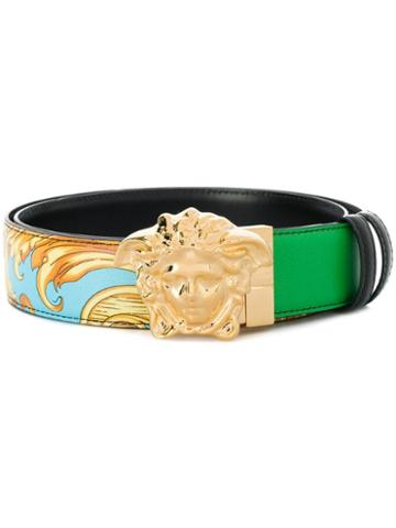Versace Printed Medusa Buckle Belt - Green