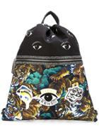 Kenzo Multi Logo Drawstring Backpack