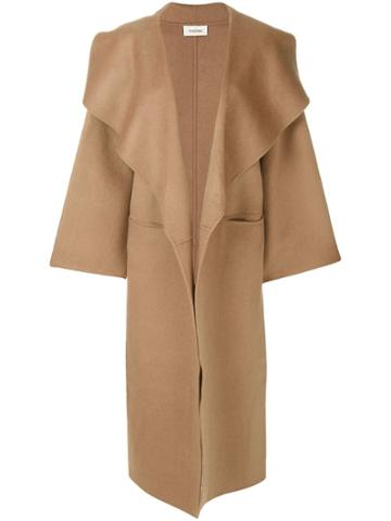 Toteme Camel Oversized Coat - Brown