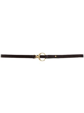 Chloé Lizard-effect Skinny Belt - Brown