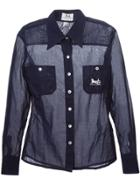 Céline Vintage Sheer Shirt - Blue