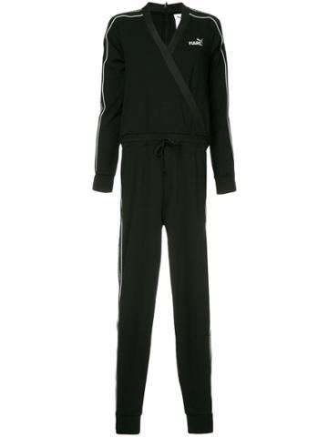 Puma X Karl Side Logo Stripe Jumpsuit - Black