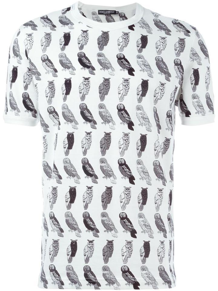 Dolce & Gabbana Owl Print T-shirt