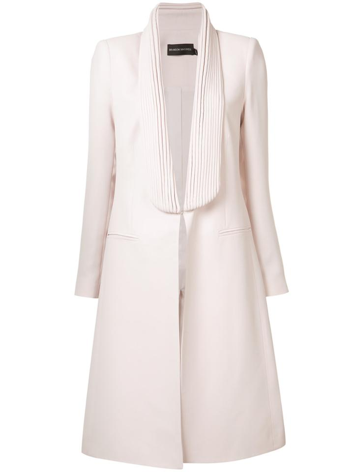 Brandon Maxwell Fitted Open-front Coat - Pink & Purple