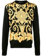 Versace Patterned Sweater - Black