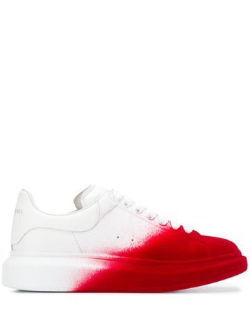 Alexander Mcqueen Oversized Spray Paint Effect Sneakers - White