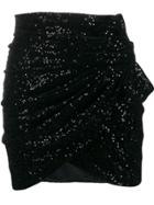 Saint Laurent Sequinned Mini Skirt - Black