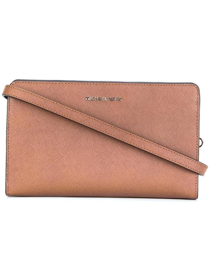Michael Michael Kors Rectangular Crossbody Bag, Women's, Brown, Calf Leather