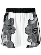 3.1 Phillip Lim Floral-print Shorts - Black