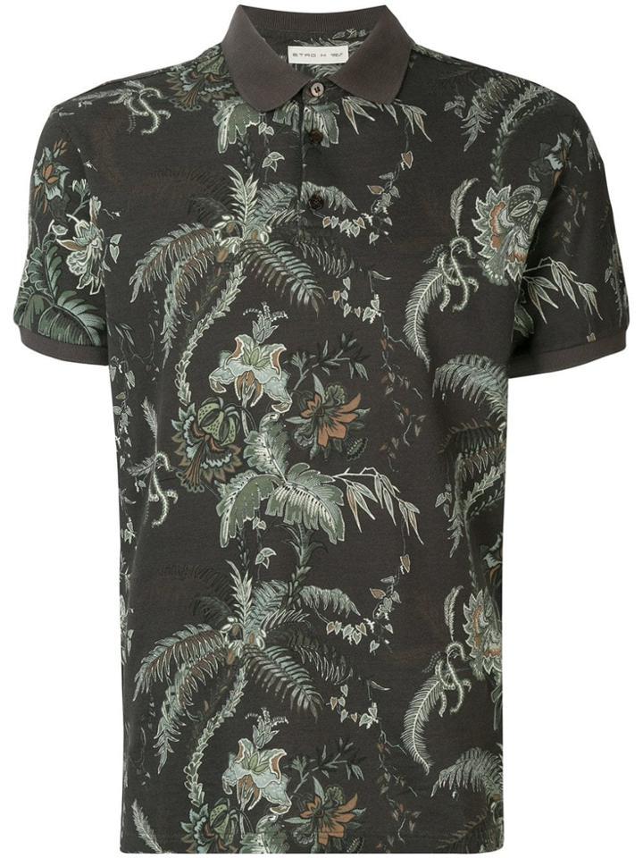 Etro Printed Polo Shirt - Grey