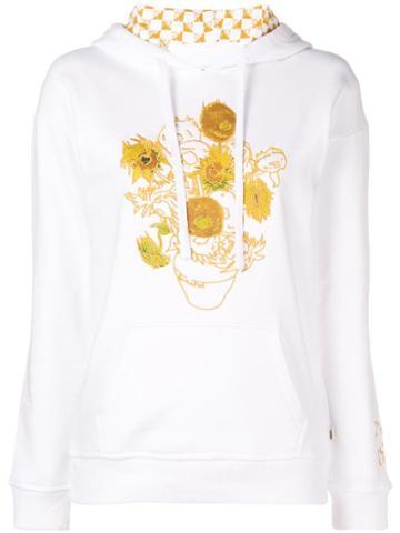 Vans Vans X Van Gogh Museum Sunflowers Embroidered Hoodie - White