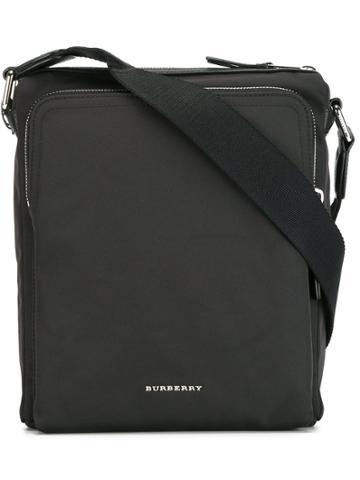 Burberry Logo Plaque Messenger Bag - Black