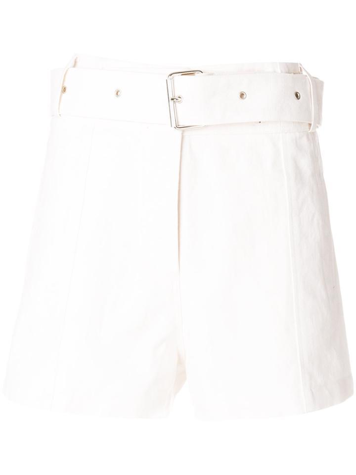 Iro Belted Shorts - White