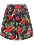 R13 Hawaiian Floral Print Shorts - Blue