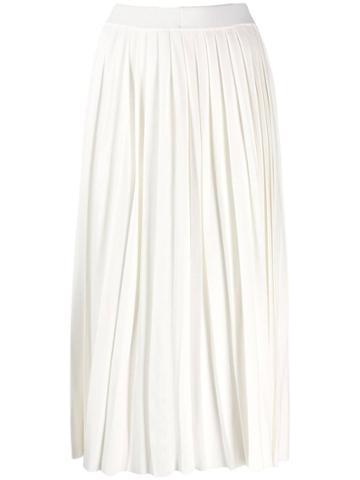 Enföld Pleated Midi Skirt - White