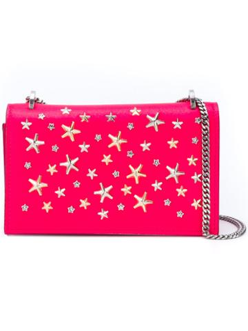 Jimmy Choo - Floria Clutch - Women - Leather/suede - One Size, Pink/purple, Leather/suede