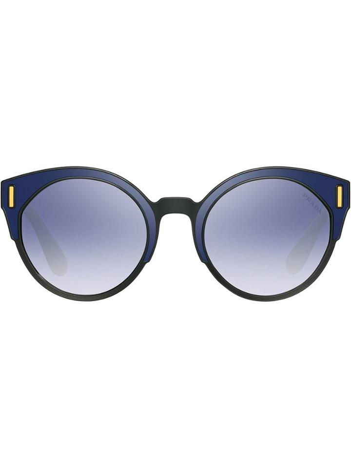 Prada Eyewear Tapestry Sunglasses - Blue