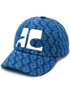 Courrèges Printed Logo Cap - Blue