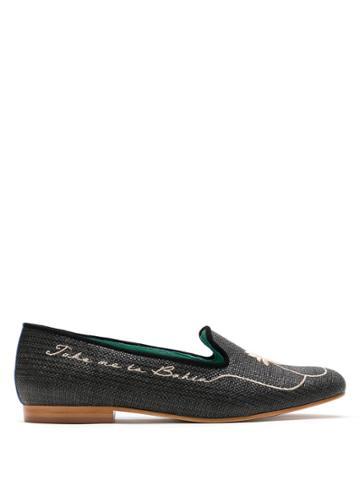 Blue Bird Shoes Loafer Take Me Too Bahia Palha Preto - Black