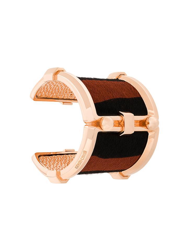 Roberto Cavalli Pony Rock Cuff Bracelet - Metallic