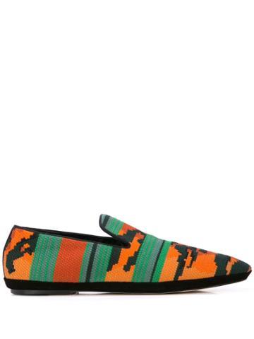 Loewe Tiger Woven Slippers - Orange