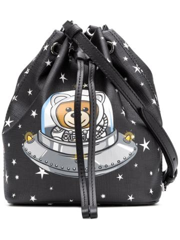 Moschino Space Teddy Bucket Bag - Black