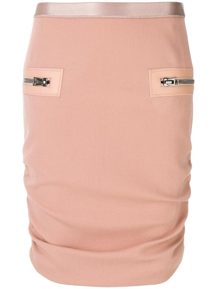 Tom Ford Gathered Sides Skirt - Pink & Purple
