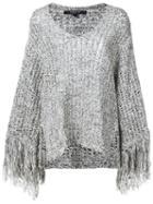 Derek Lam Fringed Knitted Blouse