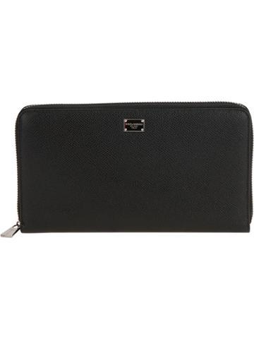 Dolce & Gabbana Zip Fastening Coat Wallet - Black