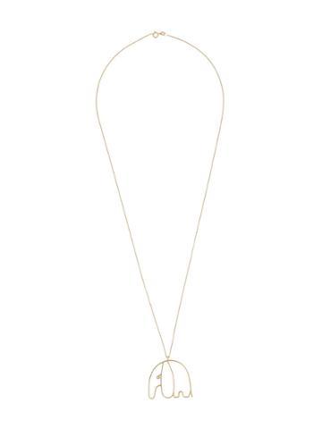 Malaika Raiss Elephant Charm Necklace - Metallic